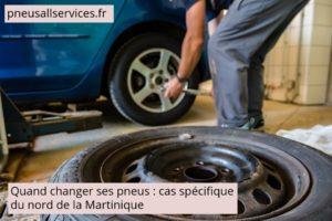 changer vos pneus en Martinique